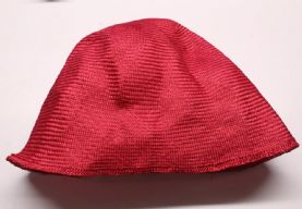 Ruby Red Parasisal Straw Hood or Cone Hat Body